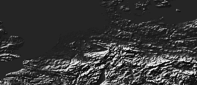 Layer 'Stretched - histogram equalize' rendered in GeoServer