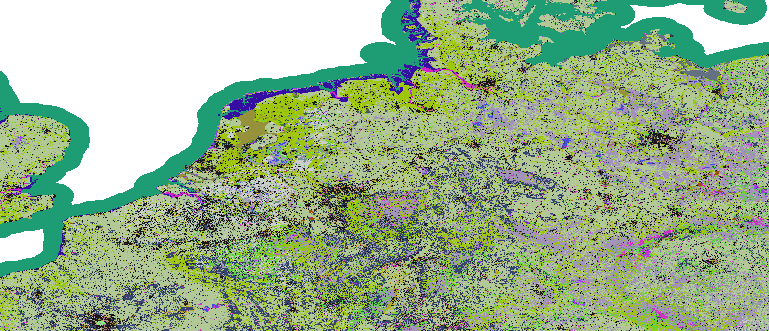 Layer 'Discrete color' rendered in ArcGIS