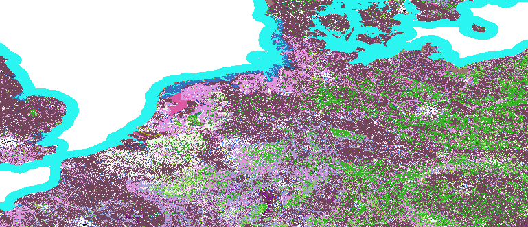 Layer 'Discrete color' rendered in GeoServer