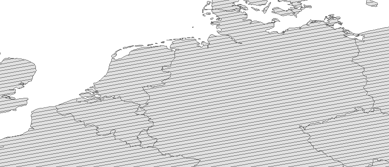 Layer 'Arbitrary angle line fill' rendered in ArcGIS