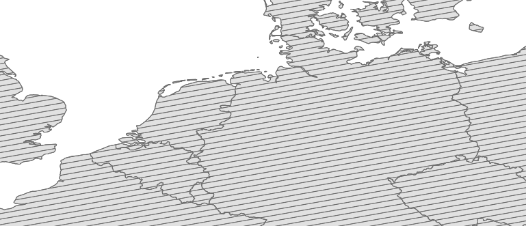 Layer 'Arbitrary angle line fill' rendered in MapServer