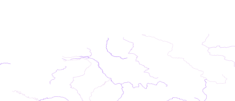Layer 'Rivers' rendered in GeoServer