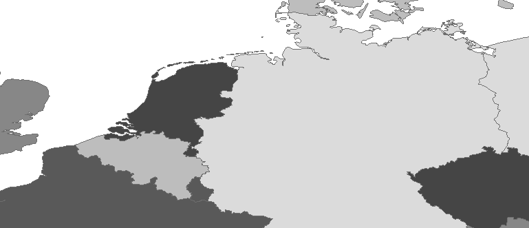 Layer 'Countries' rendered in ArcGIS