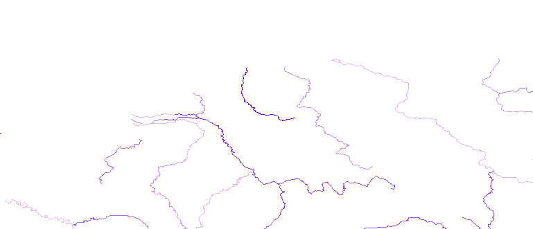 Layer 'Rivers' rendered in ArcGIS