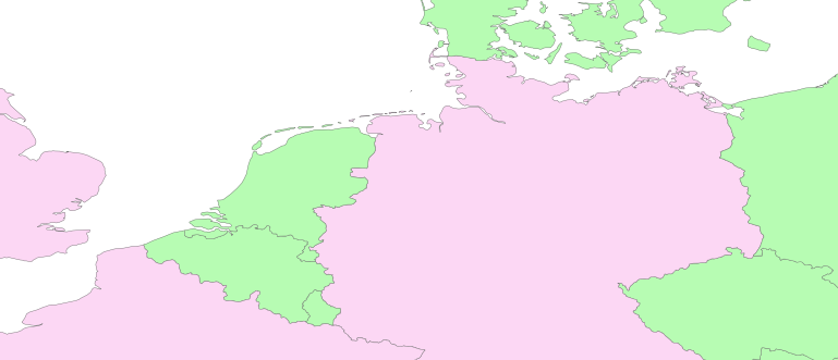 Layer 'Countries' rendered in MapServer