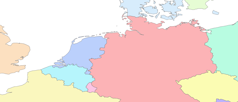 Layer 'Countries' rendered in GeoServer